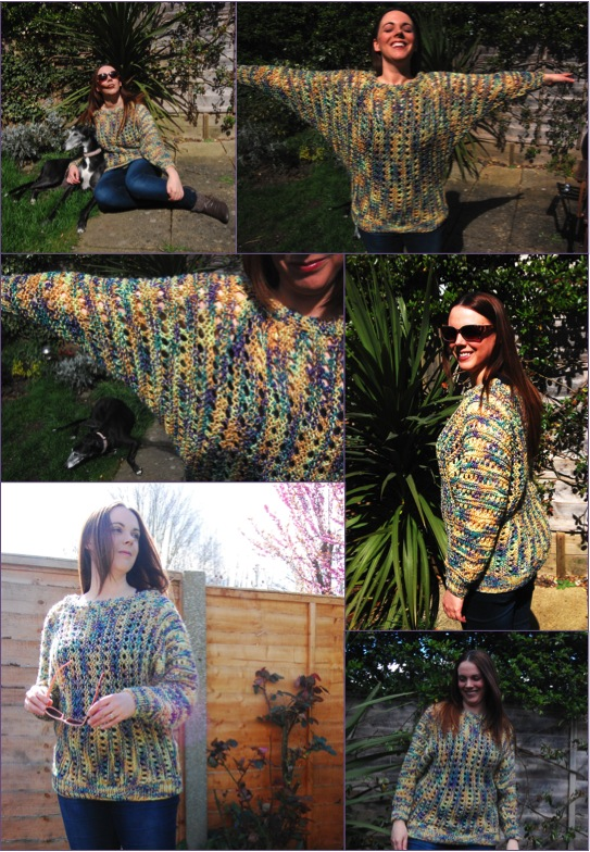 THE jumper - I highly recommend this pattern if you, too, would like to repeatedly recreate your own Titanic moment. I can't stop flinging my arms open wide in this thing.
