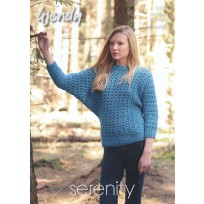 Batwing Sweater Pattern in Wendy Serenity Chunky (5835).