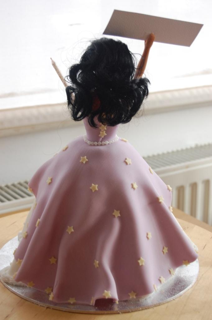 Back of doll cake