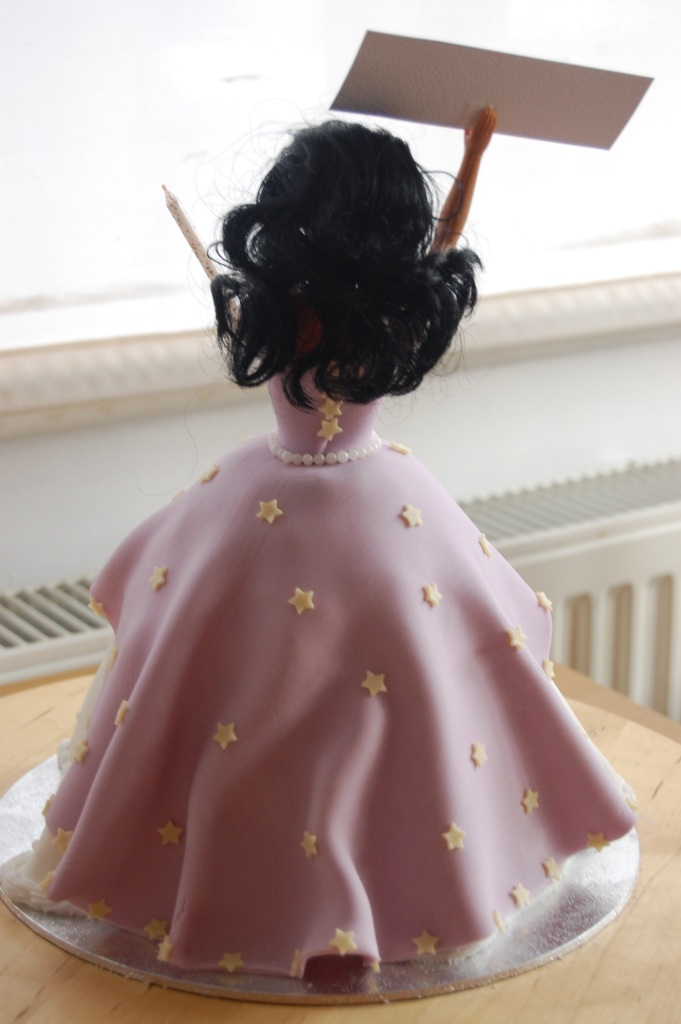 Back of doll cake