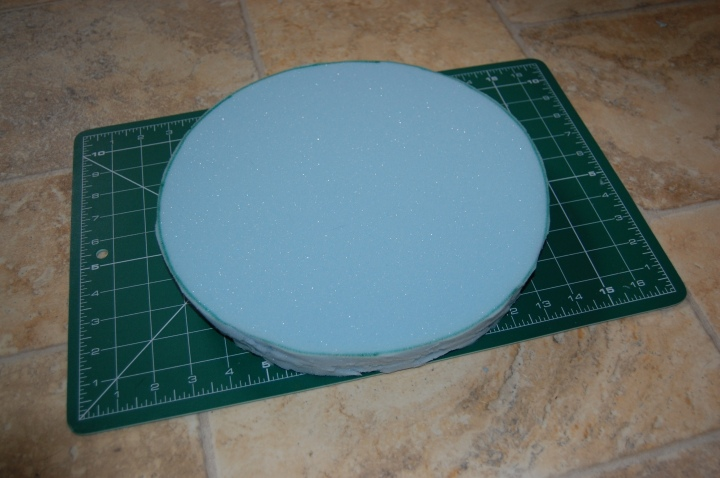 Foam circle is ready to attach to the stool
